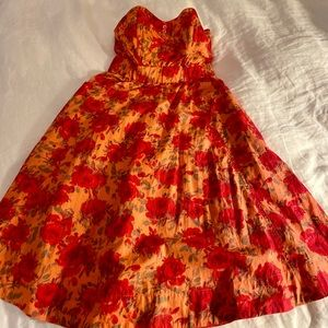 H&M strapless flower dress